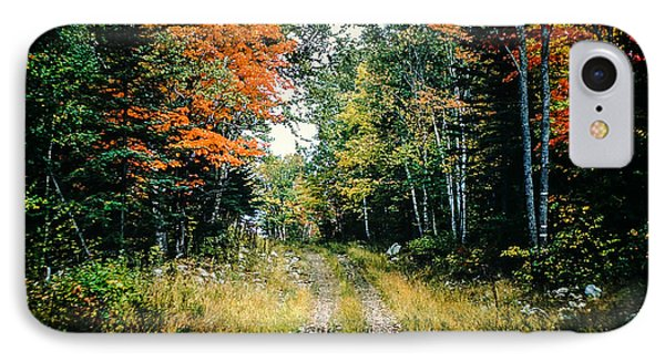 Maine Back Road Phone Case by George DeLisle
