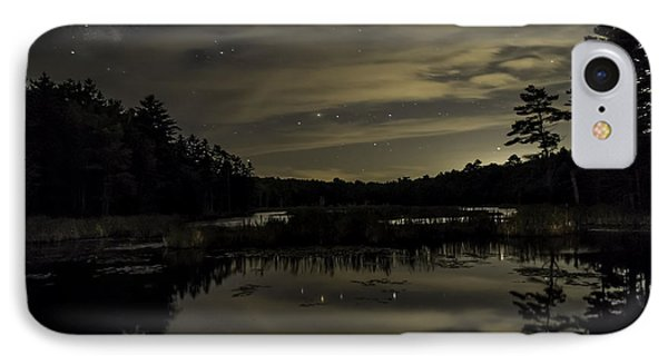 Maine Beaver Pond At Night IPhone Case