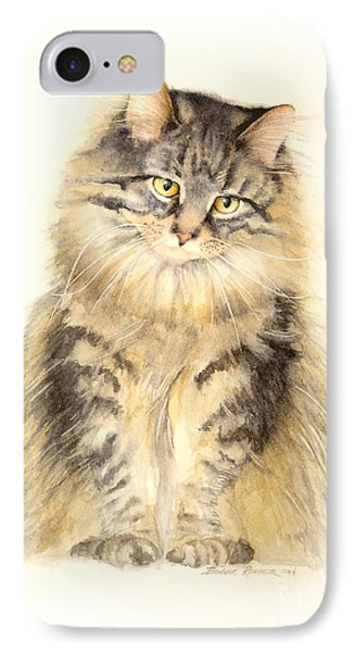 Maine Coon Cat Phone Case by Bonnie Rinier