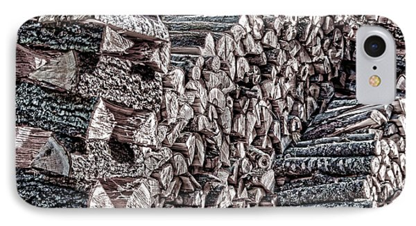 Maine Firewood IPhone Case by Patrick Fennell