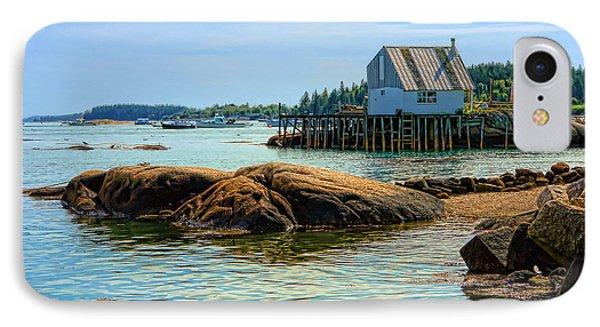 Maine Fishing Port IPhone Case