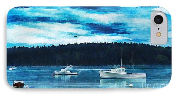 Maine Harbor Phone Case by Darren Fisher