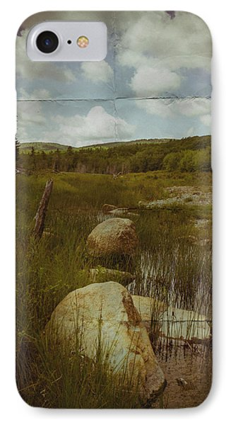 Maine Landscape Acadia National Park Clouds IPhone Case by Andy Gimino