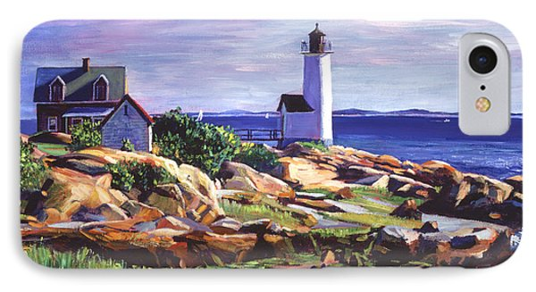 Maine Lighthouse IPhone Case by David Lloyd Glover