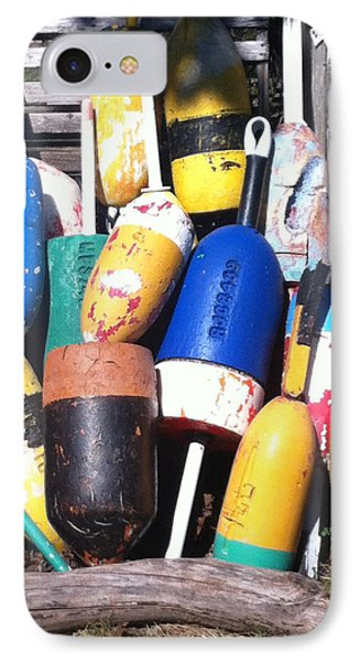 IPhone Case featuring the photograph Maine Lobster Buoys by Denyse Duhaime