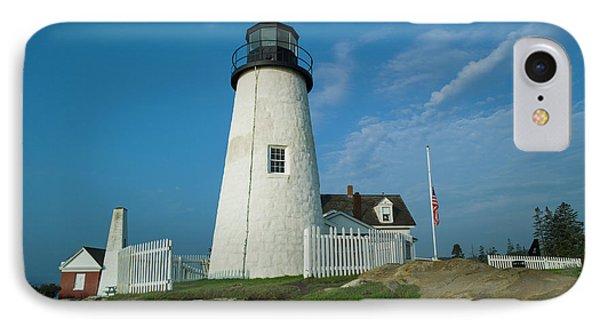 Maine, Pemaquid Point, Pemaquid Point IPhone Case by Walter Bibikow