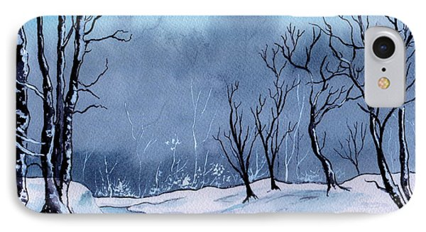 Maine Snowy Woods IPhone Case