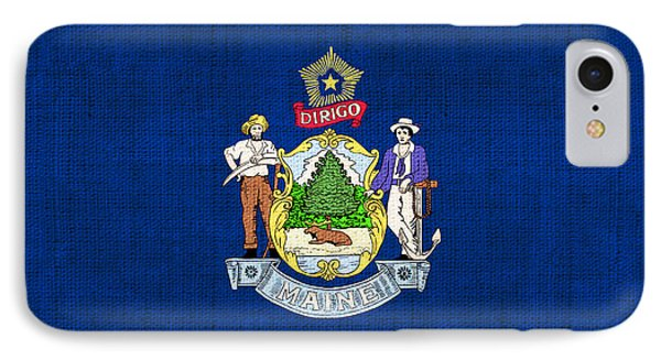 Maine State Flag Phone Case by Pixel Chimp