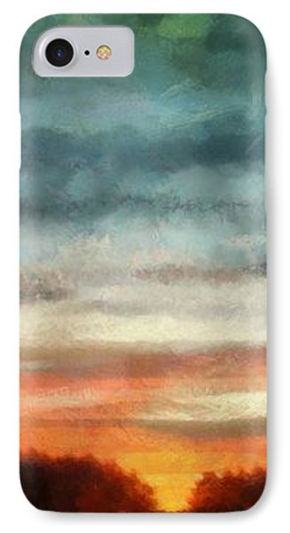 Maine Sunset Phone Case by RC deWinter