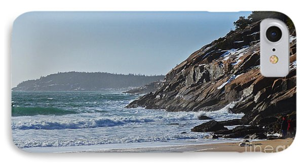 Maine Surfing Scene Phone Case by Meandering Photography