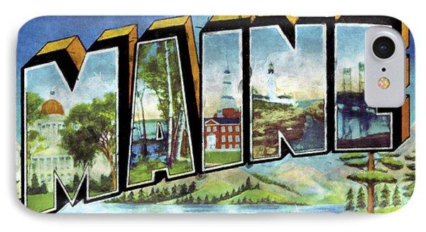 Maine Vintage Print Design IPhone Case