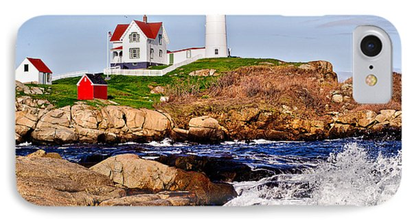 IPhone Case featuring the photograph Maine's Nubble Light by Mitchell R Grosky