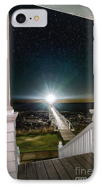 Maines Premier Porch Light IPhone Case by Scott Thorp