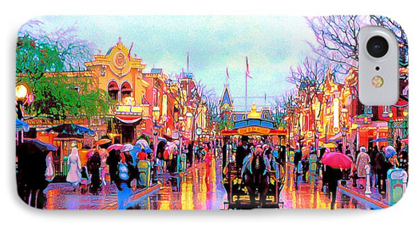 IPhone Case featuring the photograph Mainstreet Disneyland by David Lawson