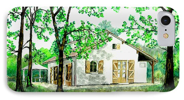 IPhone Case featuring the painting Maison En Medoc by Marc Philippe Joly