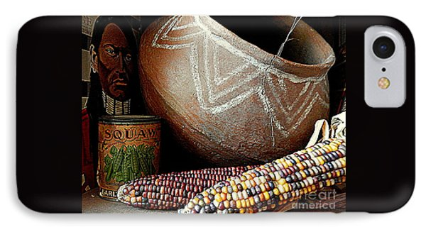 Pottery And Maize Indian Corn Still Life In New Orleans Louisiana IPhone Case by Michael Hoard