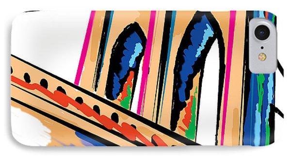 IPhone Case featuring the digital art Majestic Brooklyn Bridge by Sam Shacked