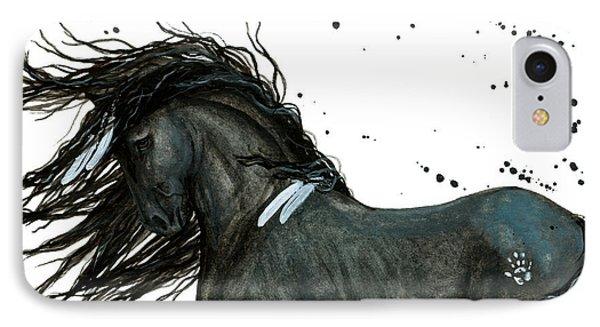 Majestic Friesian Horse 112 IPhone 7 Case by AmyLyn Bihrle