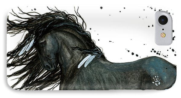 Majestic Friesian Horse 112 IPhone Case by AmyLyn Bihrle