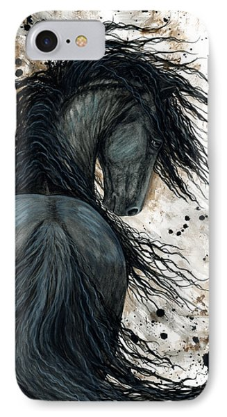 Majestic Friesian Horse 123 IPhone Case by AmyLyn Bihrle