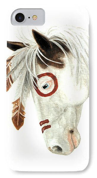 Majestic Horse Medicine Hat 41 IPhone Case by AmyLyn Bihrle