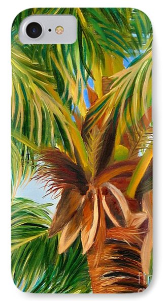 IPhone Case featuring the painting Majestic Palm by Shelia Kempf