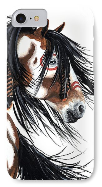 Majestic Pinto Horse IPhone Case by AmyLyn Bihrle