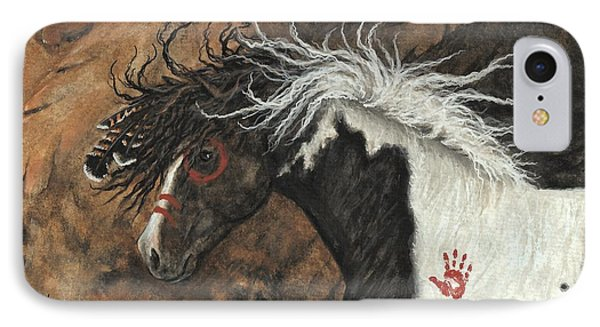 Majestic Pinto Horse 78 IPhone Case by AmyLyn Bihrle