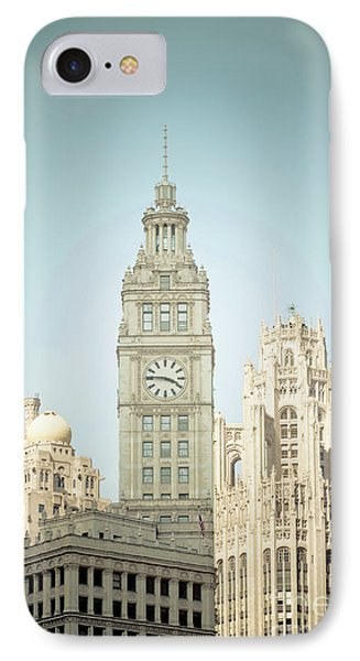 Majestic Vintage Buildings Chicago IPhone Case by Linda Matlow