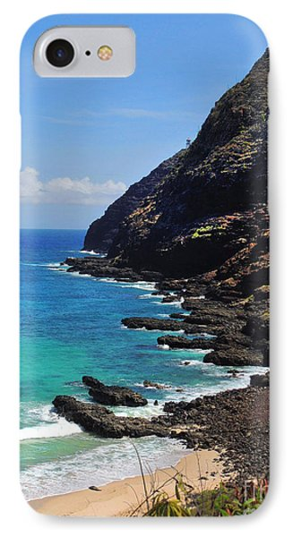 Makapu'u Beach 2 IPhone Case by Kristine Merc