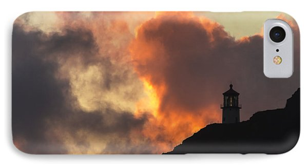 IPhone Case featuring the photograph Makapuu Lighthouse Sunrise 1 by Leigh Anne Meeks