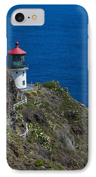 IPhone Case featuring the photograph Makapuu Lighthouse2 by Leigh Anne Meeks