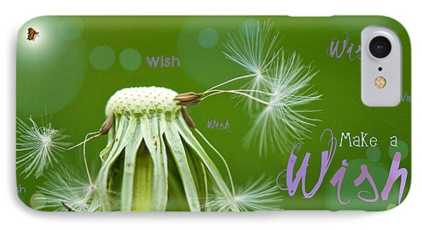 Make A Wish Card IPhone Case by Lisa Knechtel
