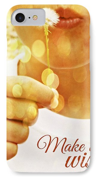 Make A Wish IPhone Case by Valerie Reeves