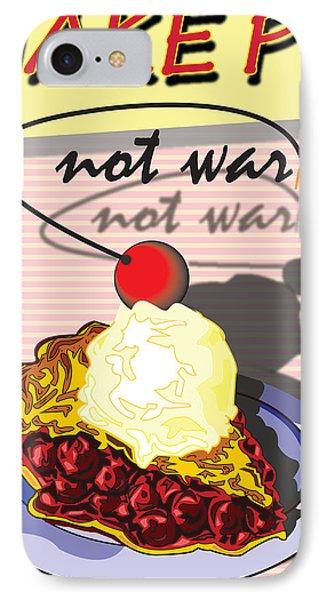 Make Pie Not War Phone Case by Larry Butterworth