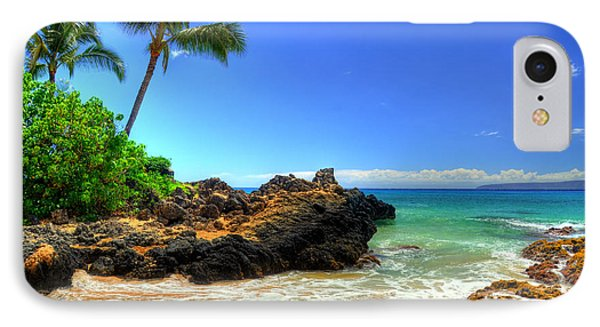 Makena Secret Cove Paako Beach Phone Case by Kelly Wade