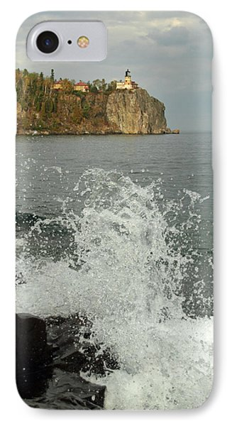 IPhone Case featuring the photograph Making A Splash At Split Rock Lighthouse  by James Peterson