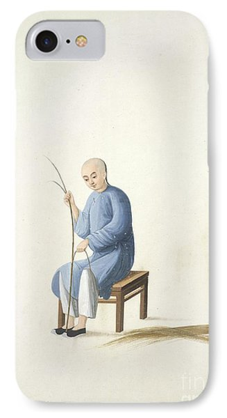 Making Bamboo Mats, 19th-century China IPhone Case by British Library