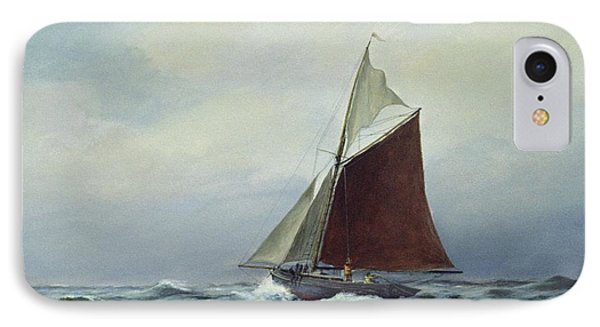Making Sail After A Blow IPhone Case by Vic Trevett