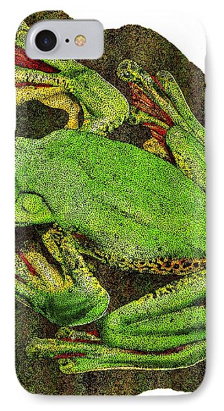 Malabar Gliding Frog IPhone Case by Roger Hall