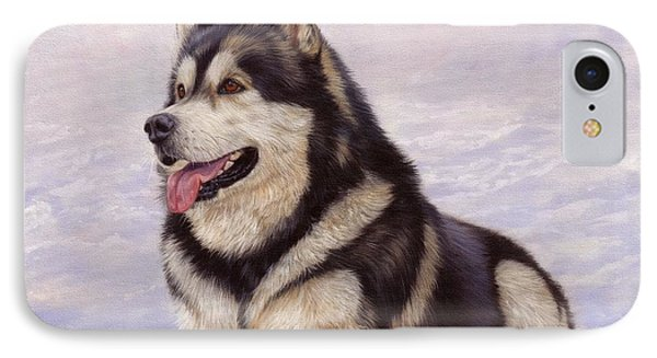 Malamute IPhone Case by David Stribbling