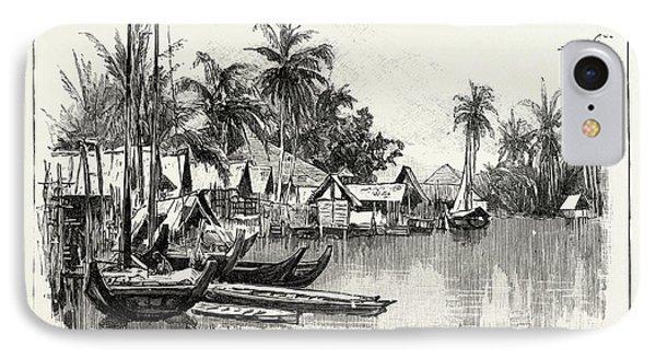 Malay Native Village On The East Coast Of Sumatra IPhone Case