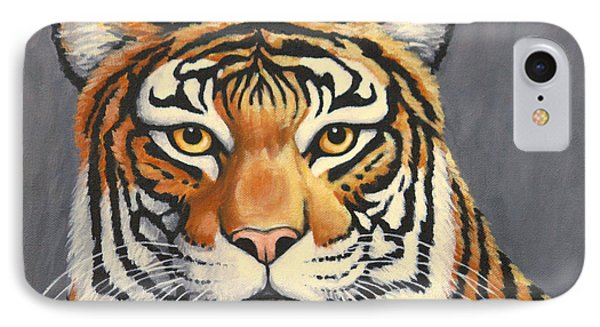 Malayan Tiger Portrait IPhone Case by Penny Birch-Williams