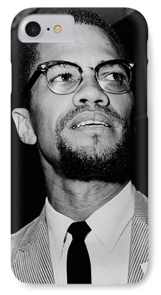 Malcolm X 1963 IPhone Case by Mountain Dreams