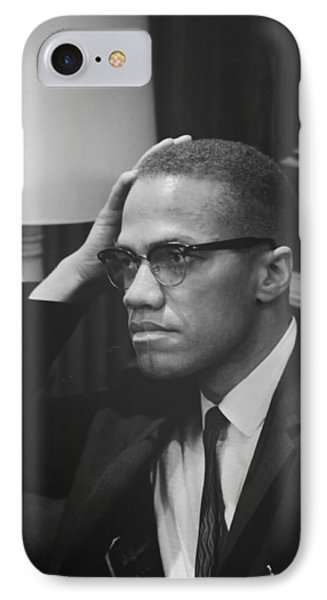 Malcolm X 1964 IPhone Case by Mountain Dreams