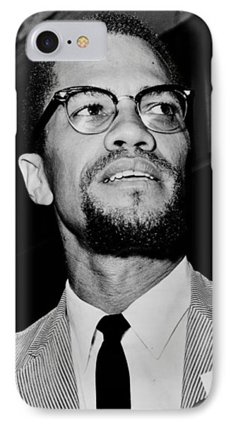 Malcolm X Phone Case by Benjamin Yeager