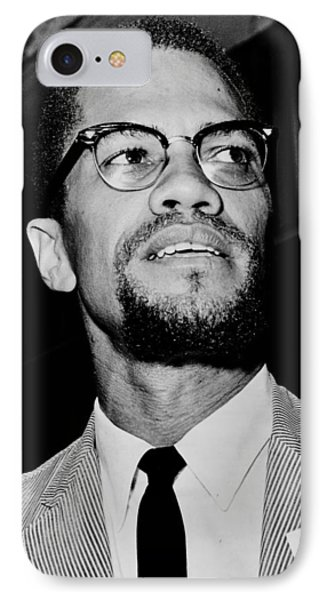 Malcolm X IPhone Case by Benjamin Yeager