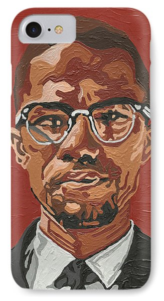 IPhone Case featuring the painting Malcolm X by Rachel Natalie Rawlins