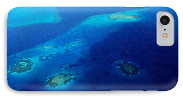 Maldivian Reefs. Aerial Journey Over Maldivian Archipelago Phone Case by Jenny Rainbow