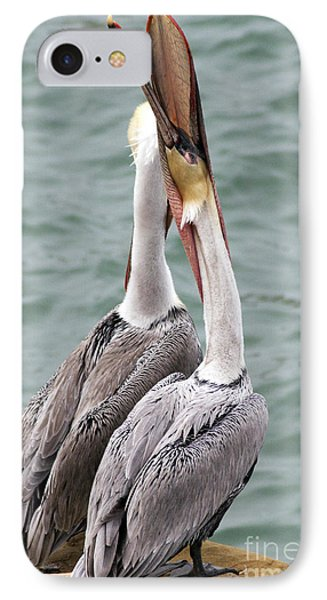 Male Brown Pelican Neck Exercise Phone Case by Darleen Stry